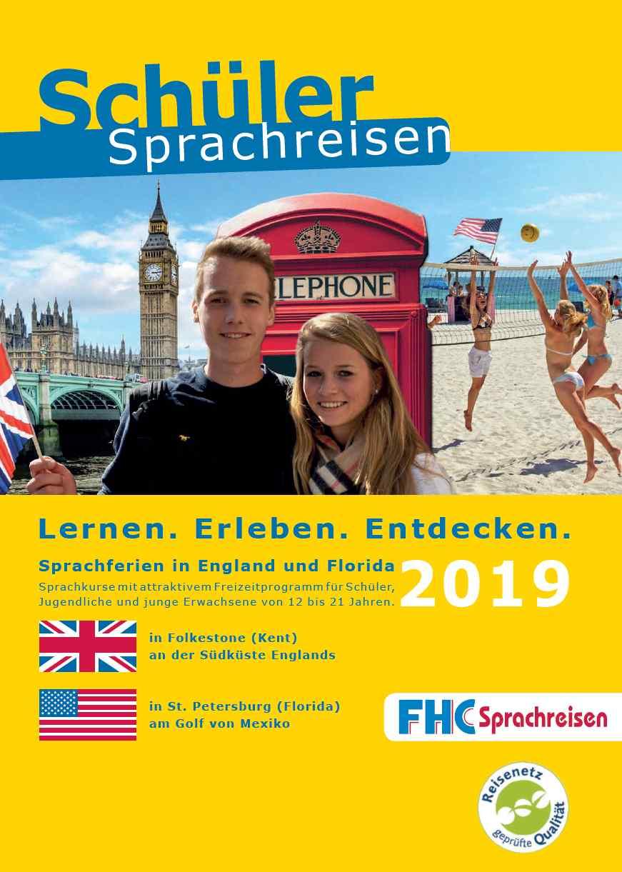 FHC-Sprachreisen Prospekt für Schüler 2019