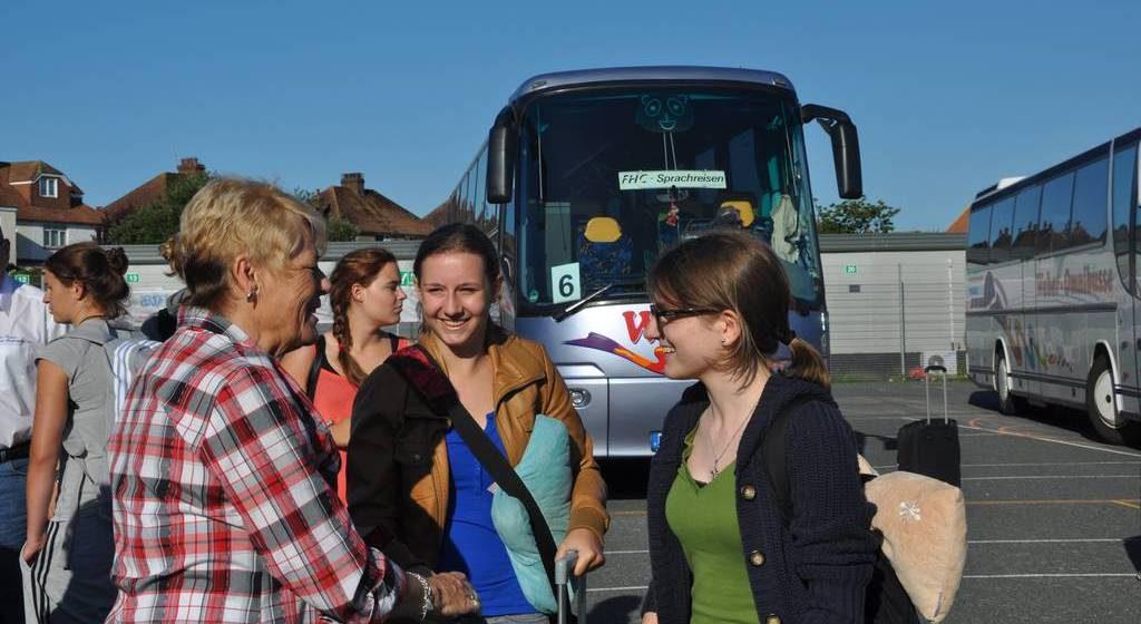 FHC Sprachreisen - Gastfamilien Ankunft in England 2